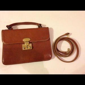 Rare vintage Furla crossbody mini briefcase